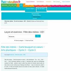 Fête des mères : CE1 - Cycle2 - Exercice évaluation révision leçon