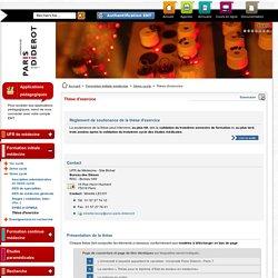 Thèse d'exercice - Faculté UFR de médecine Paris 7 diderot
