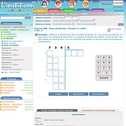 Exercice interactif - La multiplication - Calcul mental - Multiplier par 5 - L'instit.com