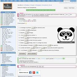 Exercice sur et/est - Le panda