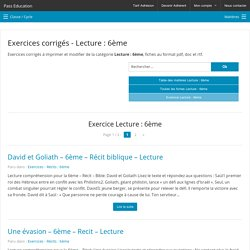 Exercice Lecture : 6ème