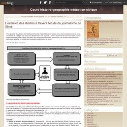L'exercice des libertés à travers l'étude du journalisme en 4ème - Cours-histoire-geographie-education-civique