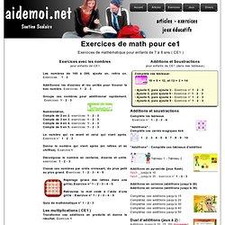 Exercice de mathématique pour ce1, math ce1