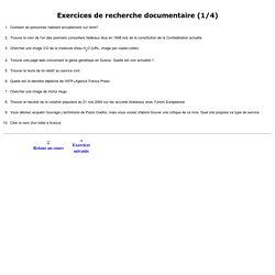 Exercice de recherche sur Internet (1/4)