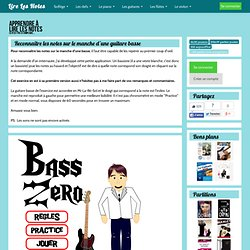 Exercice pour reconnaitre les notes sur le manche d'une guitare basse - Bass Zero bis