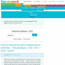 Saisons : CM2 - Cycle3 - Exercice évaluation révision leçon