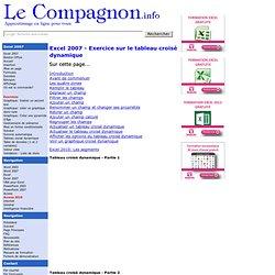 Excel 2007 : Exercice sur le tableau croisé dynamique