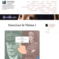 Exercices 3e Thème 1