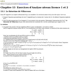 Exercices d'Analyse niveau licence 1 et 2