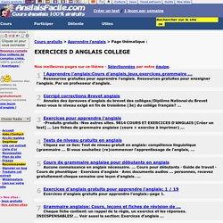 EXERCICES D ANGLAIS COLLEGE - !Apprendre l'anglais:Cours d ...