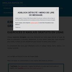 Exercices d'anglais en PDF gratuit