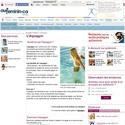 Aquagym : exercices aquagym, quel cours d'aquagym ? L'Aqua Gym ou gym aquatique