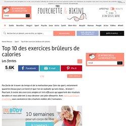 Top 10 des exercices brûleurs de calories