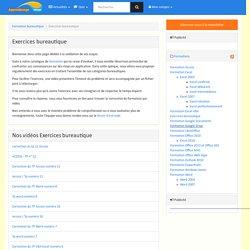 Exercices bureautique