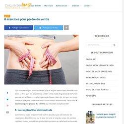 6 exercices pour perdre du ventre - CalculerSonIMC
