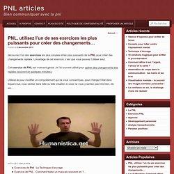 PNL, utilisez l'un de ses exercices les plus puissants pour créer des changements...