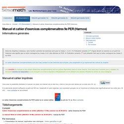 Manuel et cahier d'exercices complémenaitres 9e PER (Harmos) — Site