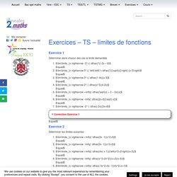 Exercices corrigés - maths - TS - limites de fonctions