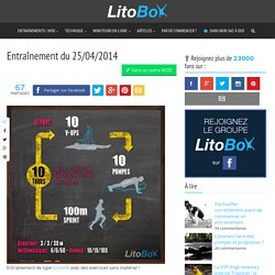 Exercices de CrossFit sans matériel du 25/04/2014