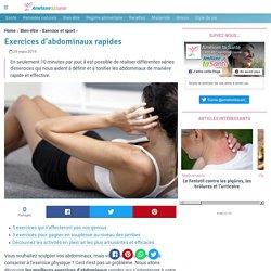 Exercices d'abdominaux rapides