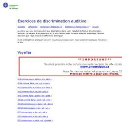 Exercices de discrimination auditive