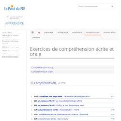 Exercices d'écrit et exercices d'oral