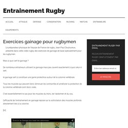 Exercices gainage pour rugbymen - Entrainement Rugby