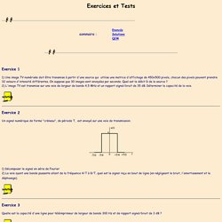 Exercices et Tests