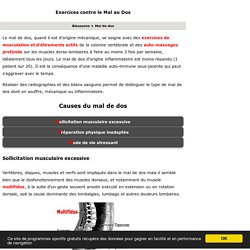 Mal de dos 10 exercices faciles