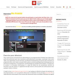Exercices PH FHNW – Swiss CSEdWeek