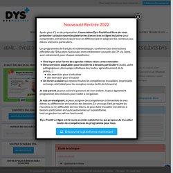 6ème - Cycle 3 - Exercices en ligne et fiches à imprimer pour les élèves DYS