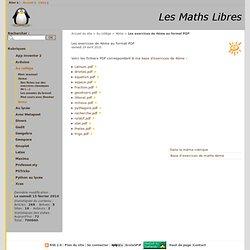 Les exercices de 4ème au format PDF