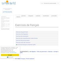 Exercices de français