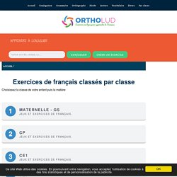 Exercices de français classés par classe