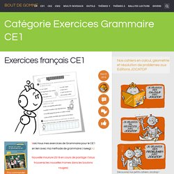 Exercices Grammaire CE1