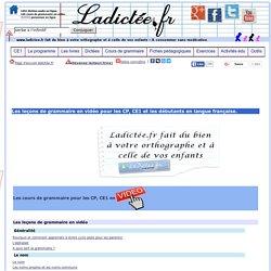 Les leçons et les exercices de français et de grammaire en vidéo gratuites CP, CE1, french learner