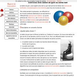 Exercices avec Ballon de gymnastique et conseils d'achat