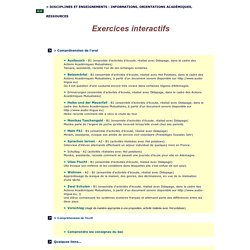 Exercices interactifs