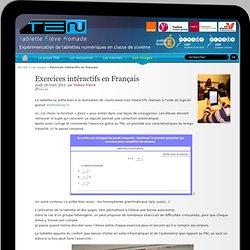 Exercices intéractifs en Français