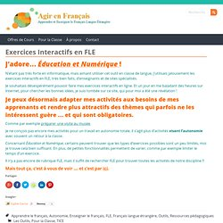 Exercices interactifs en FLE