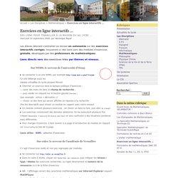 Exercices en ligne interactifs ... - Lycée Jacques Monod, CLAMART