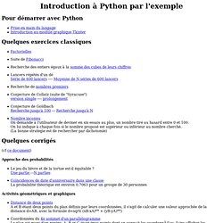 Exercices d'introduction à Python en seconde