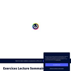 Exercices Lecture Sommaire