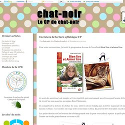 Exercices de lecture syllabique CP - chat-noir