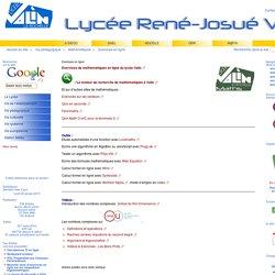 Exercices en ligne - Lycée René Josué Valin - La Rochelle