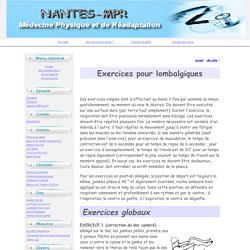 Exercices pour lombalgiques