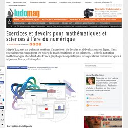 Exercices et devoirs pour mathématiques et sciences à l'ère du numérique