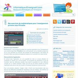 Un logiciel éducatif pour des exercices de mathématiques en primaire avec Primaths