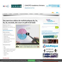 Des exercices vidéos de mathématiques 6e, 5e, 4e, 3e, seconde, des cours en pdf et de l'aide