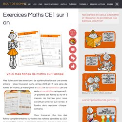 Exercices Maths CE1 sur 1 an